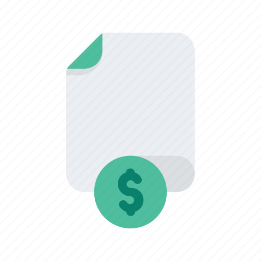 document, dollar, file, files, finance, format, money icon