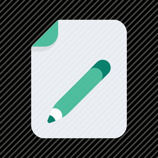 document, edit, file, files, format, pencil icon