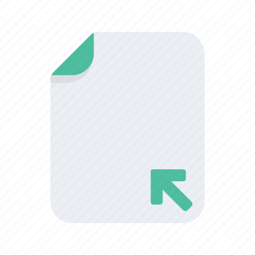 arrow, document, extension, file, files, format, minize icon
