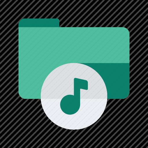 audio, file, folder, media, music, sort, storage icon