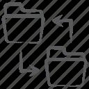 copy data, folder copy, folder swipe, data move, data transfer icon