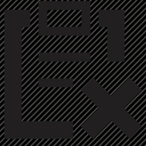 clipboard, delete, file, folder, from icon