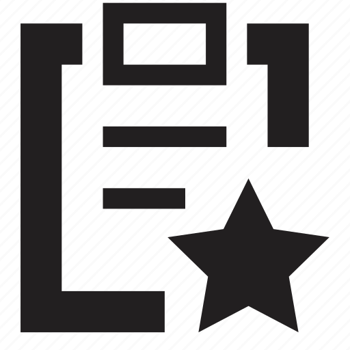 clipboard, favourite, file, folder icon