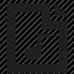 file, folder, music icon