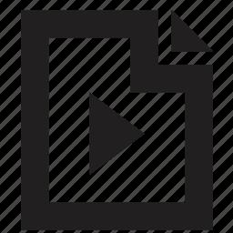 file, folder, music, play icon
