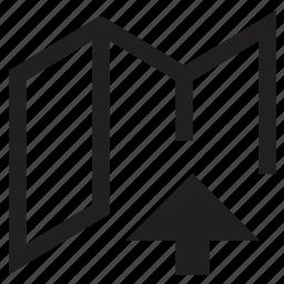 file, folder, open, upload icon