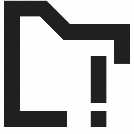 attention, file, folder icon