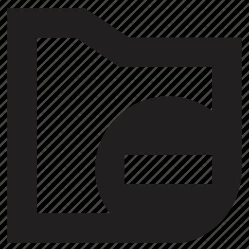 file, folder, remove icon