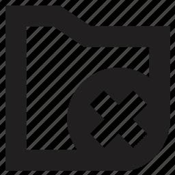 delete, file, folder icon
