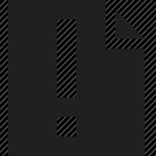 attention, file icon