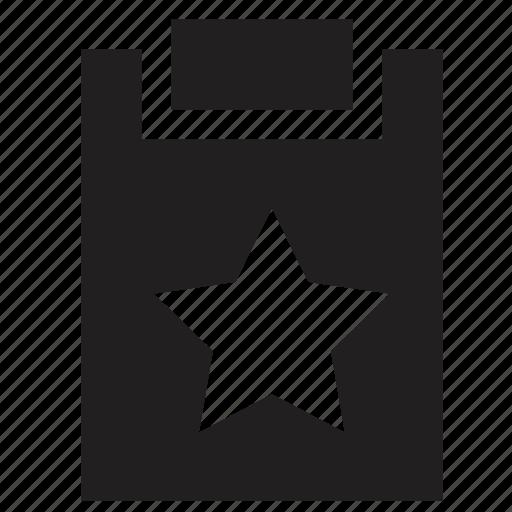 clipboard, favourite icon