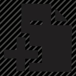 add, files icon