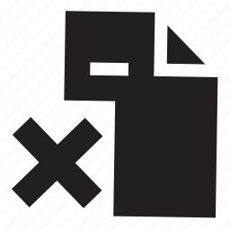 delete, files icon