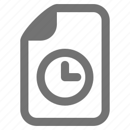 clock, document, event, file, log, time, type icon