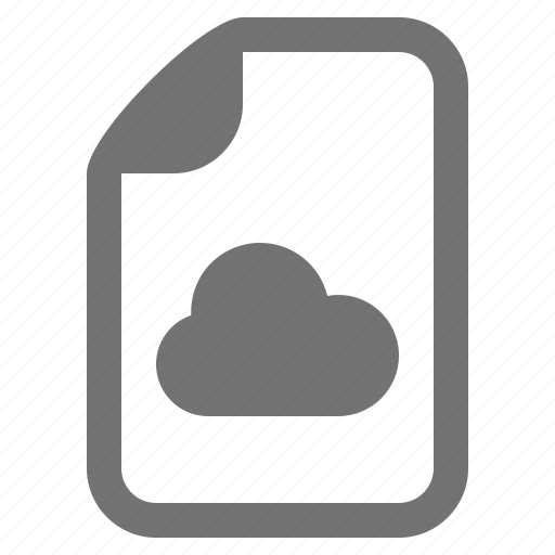 backup, cloud, data, document, file, type icon