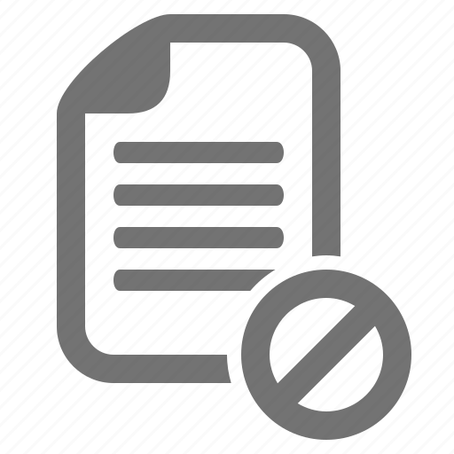 access, block, data, document, encryption, file, forbidden icon