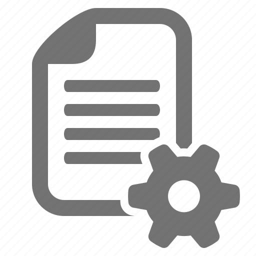 cog, config, document, file, gear, settings, system icon