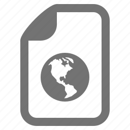 browser, document, earth, file, globe, internet, type icon