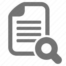 data, document, examine, file, magnifier, search, zoom icon