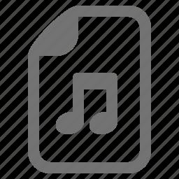 audio, document, file, media, music, type icon