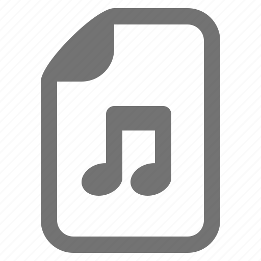 Audio, document, file, media, music, type icon - Download on Iconfinder