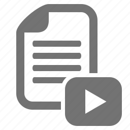 clip, document, file, media, play, video icon