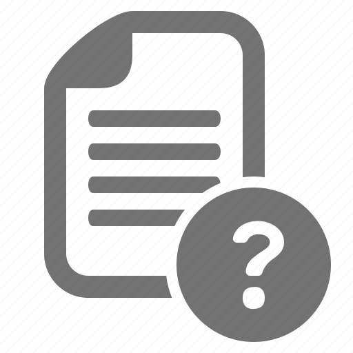 document, file, help, info, mark, question, unknown icon
