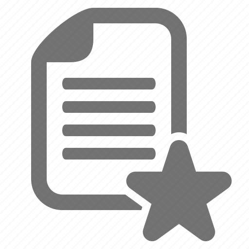 bookmark, document, favorite, file, star icon