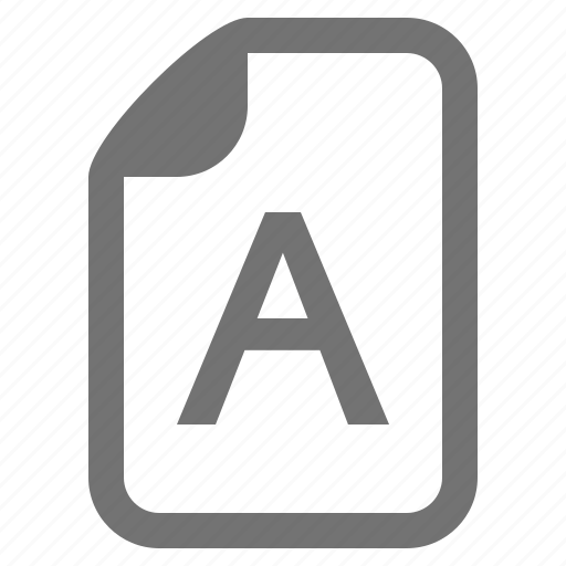 document, file, font, letter, text, type, write icon