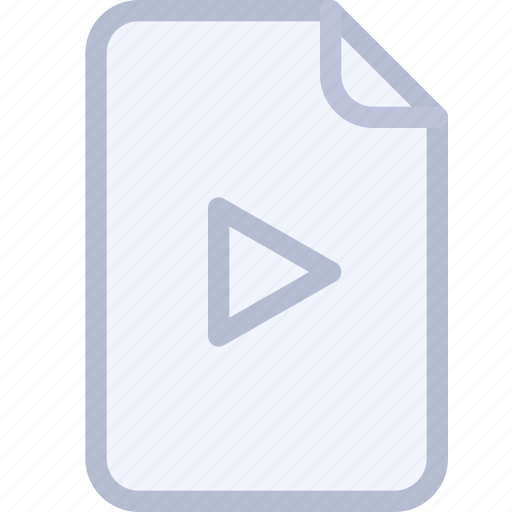 audio, doc, file, media, play, video icon