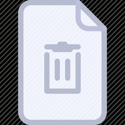 basket, delete, doc, file, remove, trash icon