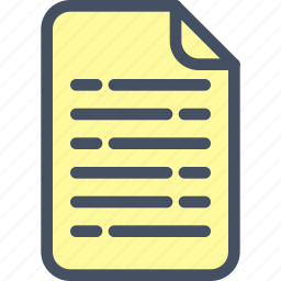 doc, file, form, list, text icon