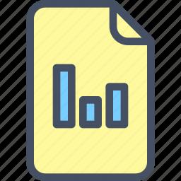 analytics, doc, file, graph, scheme icon