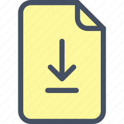 doc, download, file, save, upload icon