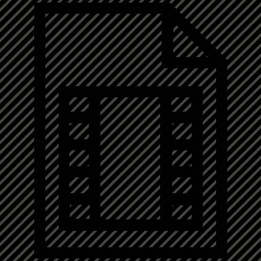 document, file, film, paper, video icon