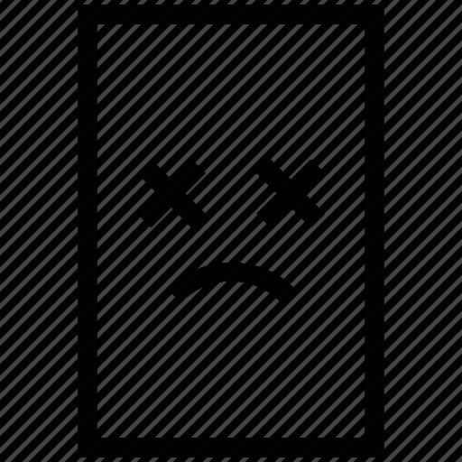 document, file, paper, problem, sad icon