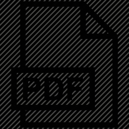 document, file, format, paper, pdf file icon