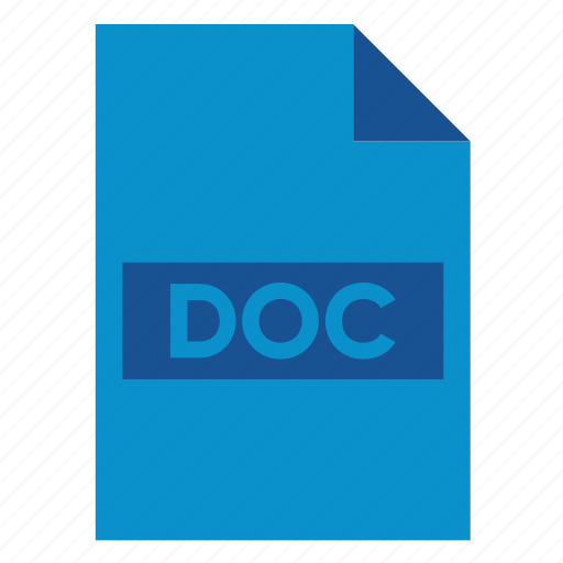 Doc, document, extension, file, filetype, format, word icon - Download on Iconfinder