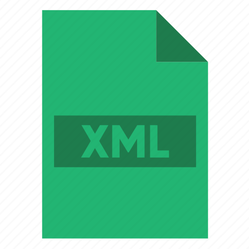 document, extension, file, filetype, format, type, xml icon