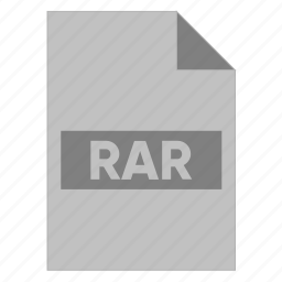 document, extension, file, filetype, format, rar, type icon