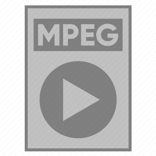 document, extension, file, filetype, format, mpeg, type icon