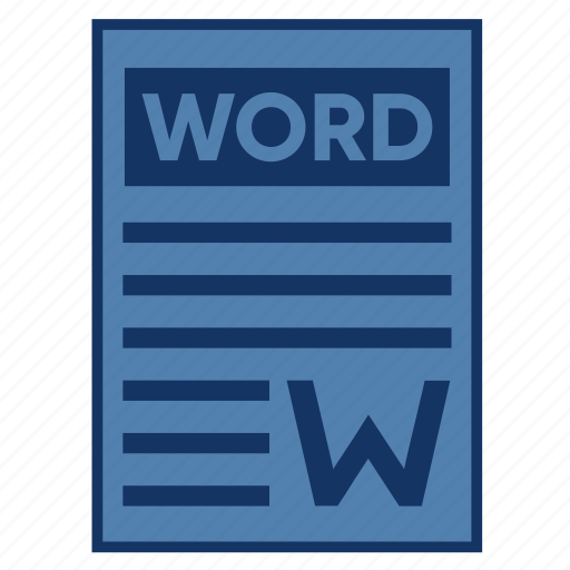 Document, extension, file, filetype, format, type, word icon - Download on Iconfinder