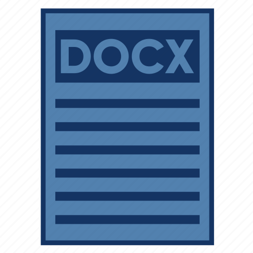 document, docx, extension, file, filetype, format, type icon