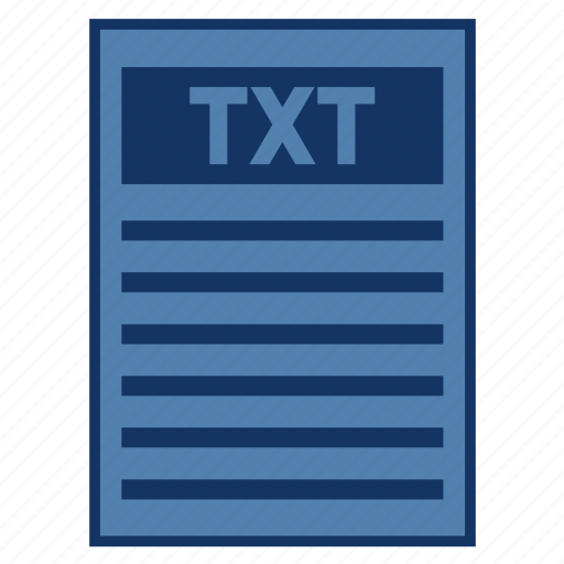 document, extension, file, filetype, format, txt, type icon