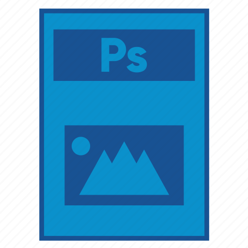 adobe, document, extension, file, format, photoshop, ps icon