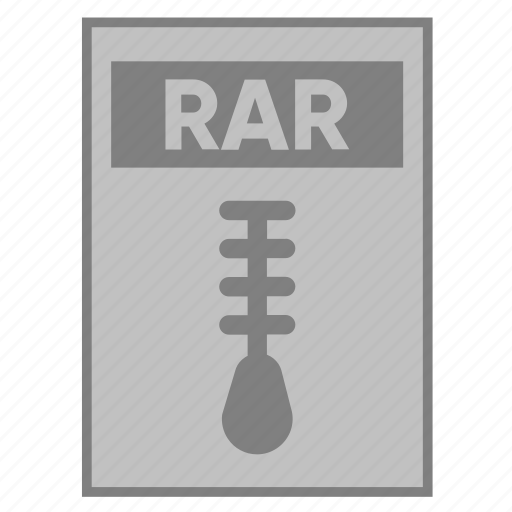 document, extension, file, filetype, format, rar, type icon