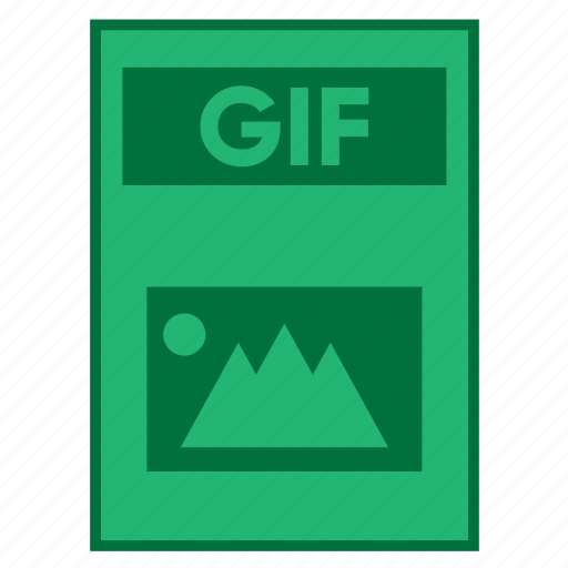 document, extension, file, filetype, format, gif, type icon