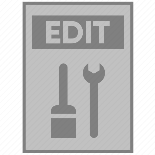 action, document, edit, file, paper, settings, tools icon