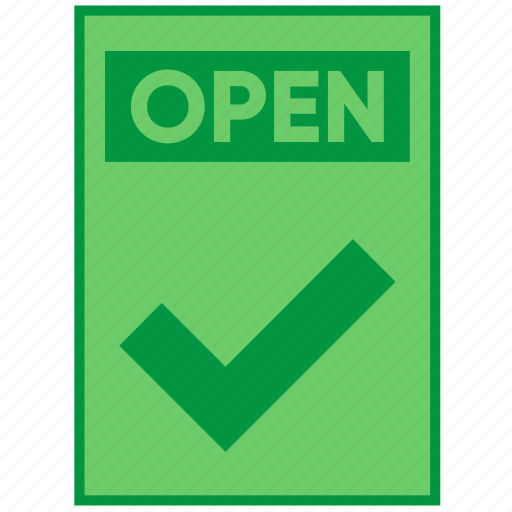 action, check, document, file, open, paper icon