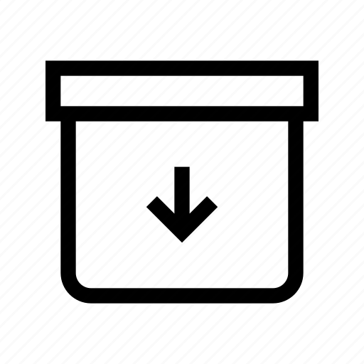 archive, box, document, file, mail icon